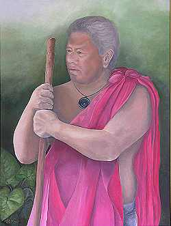 the keeper - Clifford Nae'ole cultural advisor for the Ritz Carlton, Maui, Hawaii